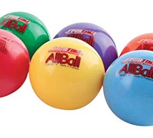 Sportime Multi-Purpose Inflatable All-Balls, 4 Inches, Set of 6