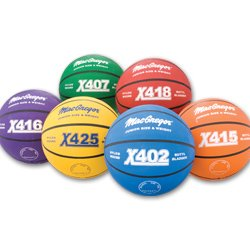 MacGregor Multicolor Basketballs (Set of 6) – Junior Size (27.5″)