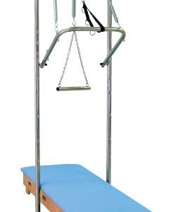 3B Scientific W15132LB Light Blue Wood Pilates Tower Wall Unit, 79-1/2″ Length x 26″ Width x 87-1/2″ Height
