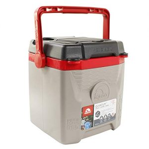 Igloo Quantum 12 Quart, Sandstone/Blaze Red/Black, 12 Qt. / 11 Large / 18 Cans