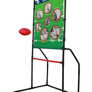 Sport Squad Endzone Challenge – 2-in-1 Football Toss and Flying Disc Toss – Backyard and Lawn Game for Indoor and Outdoor Use – Practice Your Throwing Skills with This Football Target Carnival Game