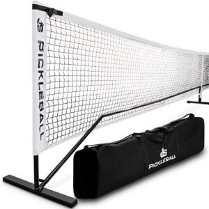 Day 1 Sports Portable Pickleball Net with Tube Steel Frame, Carry Bag Professional, Tournament Nets – Durable Pickle Ball Equipment Set and Accessories – Outdoor or Indoor Play, Regulation Size