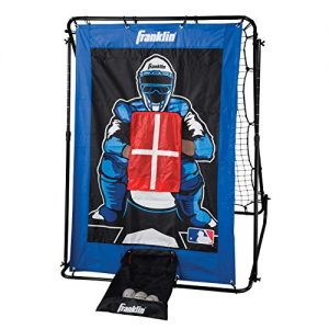 Franklin Sports Pitch Back Baseball Rebounder and Pitching Target – 2 in 1 Return Trainer and Catcher Target – Great for Practices